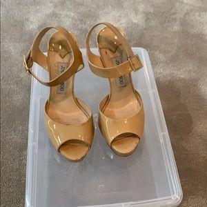 Jimmy Choo Nude Patent Leather Heels